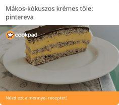 Mákos-kókuszos krémes Vanilla Cake, Desserts, Food, Postres, Deserts, Hoods, Meals, Dessert, Food Deserts