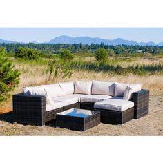 Kontiki Monte Carlo 7 Piece Sectional Sofa Set