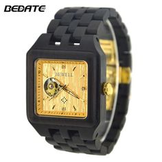9ea6339fd93 BEWELL Male Watch Wooden Brand Designer Luxury Wood Quartz Wristwatch with  Gift Box Men Square Watches for Your Family ZS-W132A