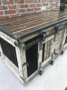Find Furnishings Style Crates at Wayfair. Relish Free Transport & browse our gre… - Dog Kennel Pallet Dog House, Dog House Plans, House Dog, Medium Dog Crate, Metal Dog Kennel, Dog Kennel Inside, Cheap Dog Kennels, Insulated Dog House, Crate Bench