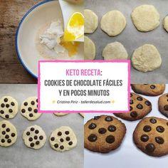 Galletas Keto, Keto Postres, Cookies Receta, Comida Keto, Keto Recipes, Keto Desserts, Chocolate Cookies, Low Carb, Healthy