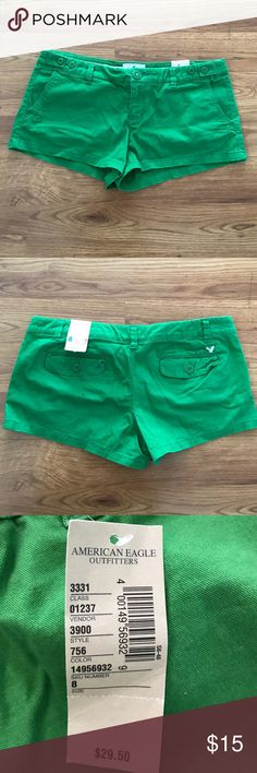American Eagle NWT green shorts size 8 American Eagle new with tags green shorts size 8. Low rise American Eagle Outfitters Shorts