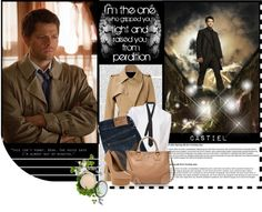 """castiel"" by poeticprincess ❤ liked on Polyvore"