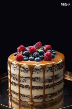 Sweet Recipes, Cake Recipes, Sweet Bar, Easy No Bake Desserts, Drip Cakes, Cakes And More, Something Sweet, Let Them Eat Cake, Cupcake Cakes