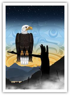 """Andy Everson - Northwest Coast Artist  """"Sentinel"""""""