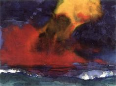 """Sea with Stormy Sky ~ Emil Nolde """