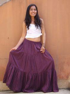 Boho Long Skirt   .....Long Skirt  ...Color Purple by Ablaa, $35.00