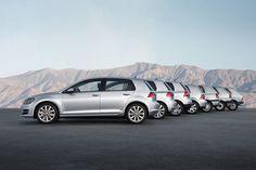 Volkswagen Golf generations. Mk1 to Mk7.