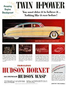 Fabulous Hudson Hornet, 1952.