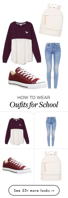 """school"" by mariliapostolidou13 on Polyvore featuring Victoria's Secret, G-Star, Converse and Want Les Essentiels de la Vie"