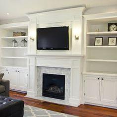 traditional living room by Tiek Built Homes