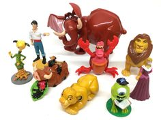 Lot of McDonald's/Burger King Disney Toys Cake Toppers Lion King, Little Mermaid  | eBay
