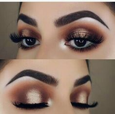 Stunning bronze eye makeup