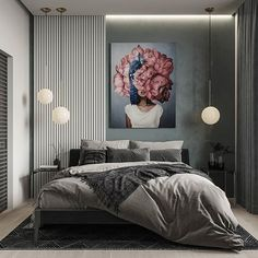 Modern Apartment by 😏 Master Bedroom Interior, Luxury Bedroom Design, Home Room Design, Bed Design, Home Decor Bedroom, Interior Design Living Room, Modern Luxury Bedroom, Bedroom Bed, Interior Desing