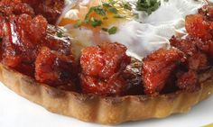 Receta de Tartaleta de huevo escalfado y picadillo de chorizo