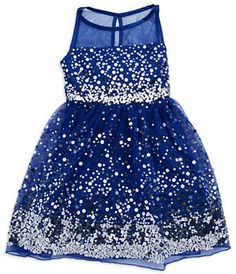 Roxette Girls 7-16 Sequined Fit and Flare Dress