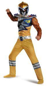 Power Rangers Dino Charge Gold Ranger Muscle Child Costume - 355663 | trendyhalloween.com #trendyhalloween