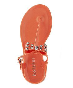 403f547e2d74 Look at this Coral Patent Classique Jelly Sandal by holster