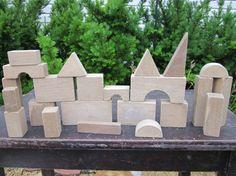 Wood Building Blocks...great DIY Cmas gift for Logan!