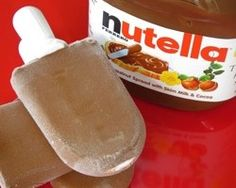 Nutella fudgesicles ~ 1 1/2 c. Pacific hazelnut chocolate milk (or chocolate milk)  1/2 c. Nutella    Whisk together the hazelnut milk and Nutella until mixed uniformly. Chill for at least 2 hours.  Pour into Zoku slots or other popsicle molds.