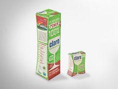 claro Zero-Waste-Verpackung aus der 100%-Produktlinie. Plastikfreie Verpackung für Spülmaschinen-Tabs, hergestellt aus 100% recyclingfähigen Kartonagen aus Graspapier. Mit markentypischer taillierter Verpackungsform. Klimaneutral produziert, FSC®-zertifiziert. • #packit #offset #packaging #wellpappe #nachhaltig #plasticfree #keinplastik #klimaneutral #recycling #verkaufsverpackung #verpackungsdesign #graspapier #claro Neutral, Gras, Facial Tissue, Zero, Recycling, Paper, Packaging Design, Creative, Upcycle