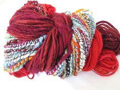 Handspun Colourful Red Merino Yarn