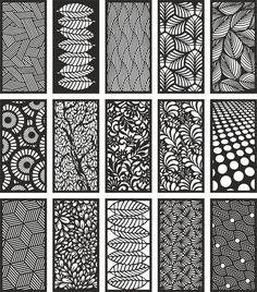 Modern Room Dividers Patterns CDR File