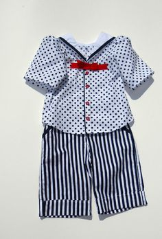 Items similar to Kids Girls Toddler Outfit.Handmade in Ireland on Etsy Sailor Outfits, Sailor Collar, Kids Clothing, Kids Girls, Toddler Girl, Nautical, Kids Outfits, Design Ideas, Rompers