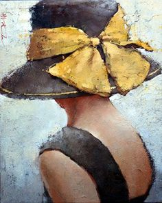 Yellow Ribbon (by Andre Kohn) #OilPaintingOleo