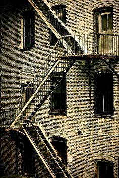 Old fire escape .. remember these when I lived in the Bronx ...