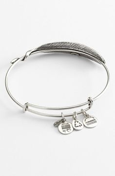 Alex and Ani Quill Expandable Wire Bangle #alexandani