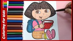 dora the explorer coloring book for kids youtube video from coloring pages shosh channel