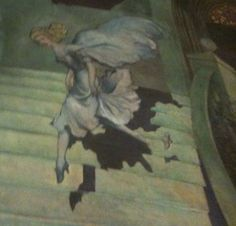 "Detail of a Cinderella mural. HecksherTheater, (the present day El Museo del Barrio). murals ""Scenes from Children's Literature. New York Museums, Present Day, Art Director, Love Art, Murals, Annie, Gypsy, Illustrator, Cinderella"