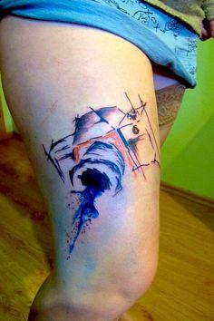 Abstract camera tattoo by Filip Sečka https://www.instagram.com/filipsecka/