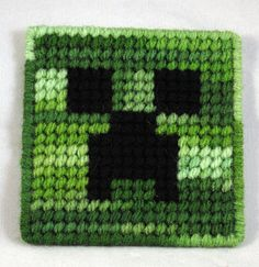 Creeper-could use this as a pattern for fuse beads Plastic Canvas Coasters, Plastic Canvas Crafts, Minecraft Crafts, Minecraft Ideas, Minecraft Birthday Party, 7th Birthday, Amazing Minecraft, Minecraft Bedroom, Cute Stuffed Animals