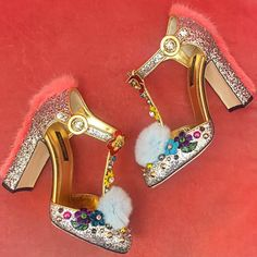 Fur and Sparkle Dolce & Gabbana Shoes