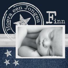 Geboortekaartjes - Geboortekaartje Jongen Jeans