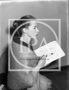 Clodagh Phipps, 18 Year Old Dress Designer, drawing for her First Fashion Show at Irish Fashion, Old Dresses, Photo Archive, Designer Dresses, 1950s, Ireland, Fashion Show, Drawings, Image