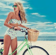 Sofia high waist set by All About Eve #swimwear#beach#holiday#bike#retro#vintage#swimwear#floral