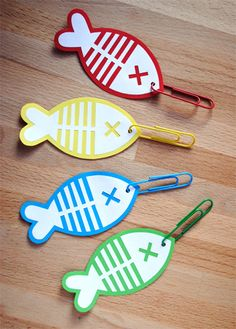 Fish on a paperclip hook! Perfect for add ons in scrapbooking!!!