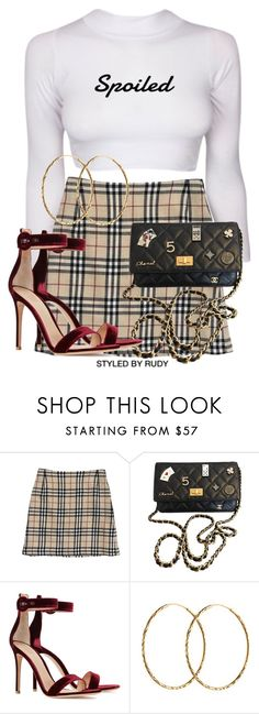 """Untitled #894"" by styledbyrudy ❤ liked on Polyvore featuring Burberry, Chanel, Gianvito Rossi and Pernille Corydon"