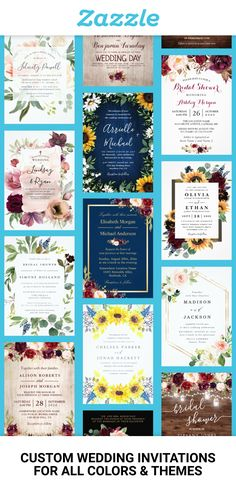 Set the tone for your wedding with customizable invitations in your colors & theme. 💕 Explore our selection of over design options to create wedding cards as one-of-a-kind as your love for…More Cute Wedding Dress, Best Wedding Dresses, Floral Wedding, Fall Wedding, Rustic Wedding, Our Wedding, Wedding Ideas, Handmade Wedding, Trendy Wedding