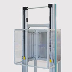 The mobile protection device with integrated safety hood is used in conjunction with a spindle test system. The safety hood provides easy, quick access during the testing process. Mobiles, Door Opener, Bathroom Medicine Cabinet, Safety, German, English, Easy, Hoods, Deutsch