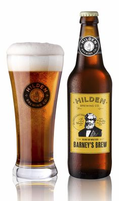 A delicious pint of Barney's Brew from the Hilden Brewing Co. Hard to beat.