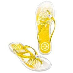 1eb741245c50 Pittsburgh Steelers Women s Jelly Flip Flops Steelers Gear