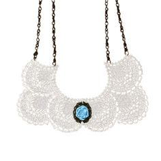 The Collar Necklace - Blue Rose
