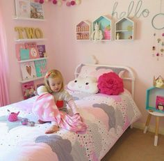 Cute girl toddler room