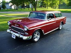 55' chevy nomad, I cant wait to get ours up and moving. The one thing I get to be in control of over Garth muahah