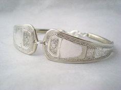 Spoon Bracelet Antique Silverware Art by monpetitchouboutique, $29.99