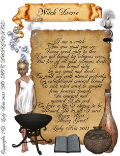 COLOR Book Of Shadows Page 14, Witches Decree, Charmed,Wicca, Witch,Oil,Herb picclick.com
